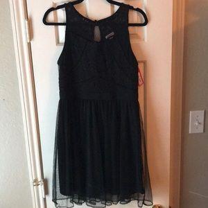NWT xhilaration little black dress tulle skirt med